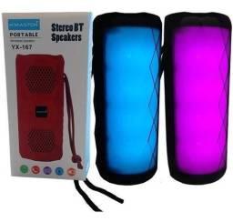 Caixinha de som portátil H?maston com led RGB Bluetooth modelo yx-167 (House eletronics)