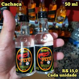 Miniatura Cachaça PITU - 50ml - Original, Lacrada e Licenciada