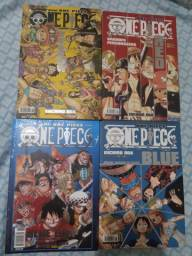 One piece databook - yellow, red, blue e blue deep