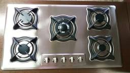 cooktop, cooktop em aço inox escovado, cooktop 5 bocas