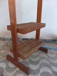 Sapateiro + cabideiro em madeira