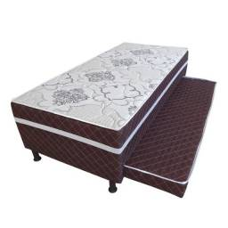 Cama box solteiro com auxiliar Design