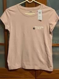 Camiseta rosa claro original