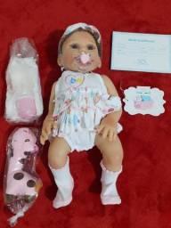 Bebê Reborn de 47cm 100% Silicone (NÃO FAÇO MENOR PREÇO)