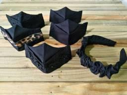 Promoção de máscara preta 3d
