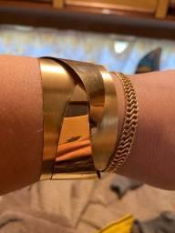 Bracelete 100% ouro 18 com 46 gramas