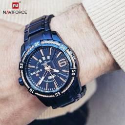 Relógio Naviforce Importado, Azul Intenso.