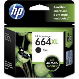 Cartucho impressora HP - 664XL Preto Original