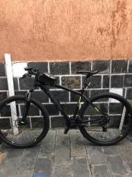Bicicleta OGGI HACKER HDS /CINZA/VERDE  TAMANHO 19