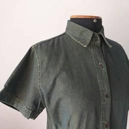 Camisa jeans feminino Tam M