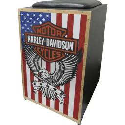 Cajon Acústico Inclinado Profissional K2 COR-005 Harley Davidson JAGUAR<br><br>
