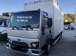 Ford Cargo 816 2018 Baú de Alumínio, Entrada mais Parcelas com Contrato de Serviço.