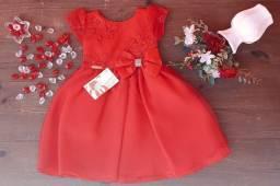 Vestido de Festa - Tema Princesa - Tamanho 1 ano