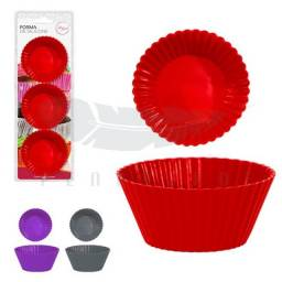 Título do anúncio: Formas de silicone para cupcake   6 formas art house