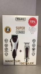 Combo Wahl Magic Clip e Detailer T-wide 110 Ou 220v