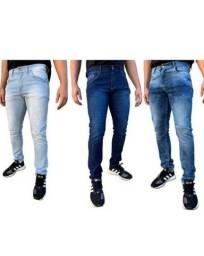 Kit/3 Calças Jeans Masculina Skinny Slim Original Elastano Lycra Atacado<br><br>