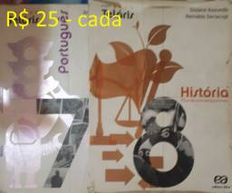 Teláris - História 8, Português 7 - R$ 25 cada