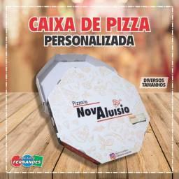 Caixa de pizza personalizada ou padrão