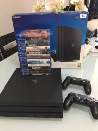PlayStation Ps4 Pro 1 TB com 16 jogos e 2 controles !!