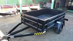 Carretinha Fazendinha Especial 1,30 x 2,20m - Reboque Zero KM