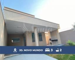 Título do anúncio: Casa ampla, com quintal e varanda gourmet, contendo 3 quartos no Jd. Novo Mundo, Goiânia.