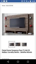 Painel tv parede semi novo