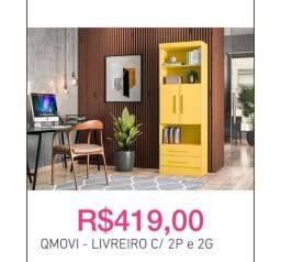 Título do anúncio: Qmovi - Livreiro novo; C/2 portas e 2 gavetas.