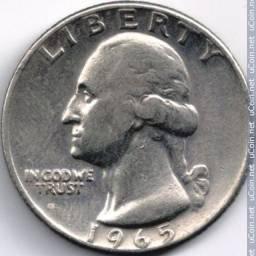 Quarter Dollar 1965 MBC+ Washington Quarter EUA América