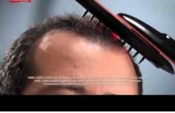 Escova hair laser + escova massageadora contra queda de cabelos