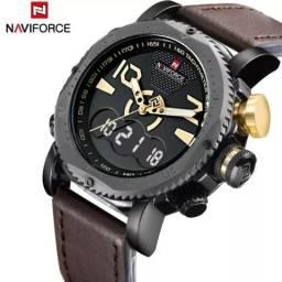 Relógio Militar de Luxo Original do Exército Militar de Couro dos Homens Sports