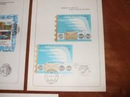 230 editais ect=1978 a 1987 = com selos respectivos e carimbo 1ºdia