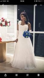 Vestido de Noiva N 36-38 + Brinde