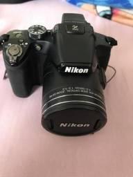 Nikon P510 + Tripé + Case + Cartão 8GB