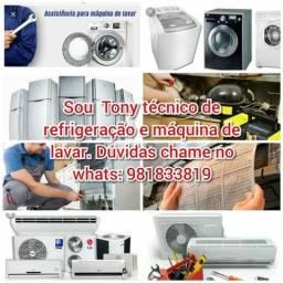Manutenção em máquinas e Ar condicionado