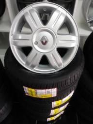 Originais Renault aro 15 com pneus novos