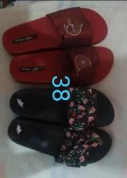 Sandália chinelos slide aceito cartão