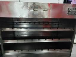Máquina de assar carne e frango