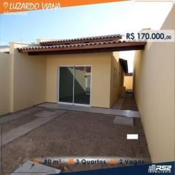 Casa plana área de 80 m², 2 suítes, 2 vagas