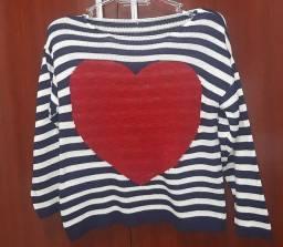 tricô coração