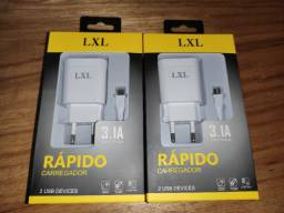 Carregador rápido LXL 3.1A 2 entradas usb