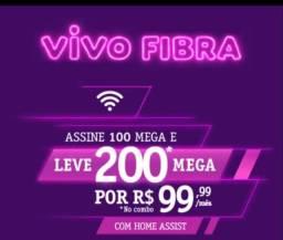 Internet fibra óptica 200megas por R$99