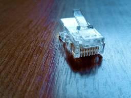 200 conectores de cabo de rede rj45 cat6