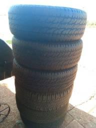 5 pneus 265/60/18 usado em bom estado R$ 150,00 cada *