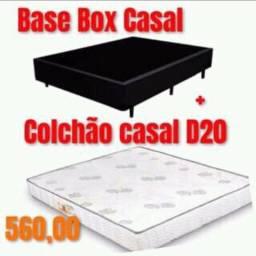 Cama e colchão box