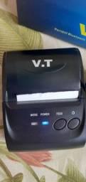 Impressora térmica portátil com bluetooth + 20 bobinas