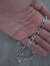 Cordão corrente de prata masculina 925k Prata Legítima