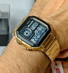 Título do anúncio: Relógio Masculino Digital Skmei 1335 Dourado