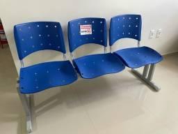 Cadeira 3 lugares escritório