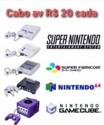 Cabo Av super Nintendo Famicom n64 game Cube
