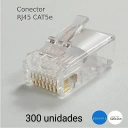 300 unidades do conector de cabo de rede rj45 cat5e